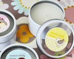 Baby Animals Personalized Round Travel Candle Tins  cheap favors