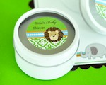 Personalized Round Candle Tins - Jungle Safari  cheap favors