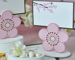 Cherry Blossom Place Card Favor Boxes with Designer Place Cards cheap favors