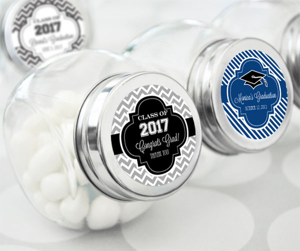 Personalized Graduation Candy Jars cheap favors