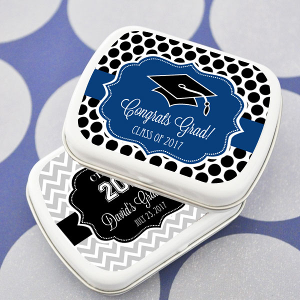 Personalized Graduation Mint Tins cheap favors