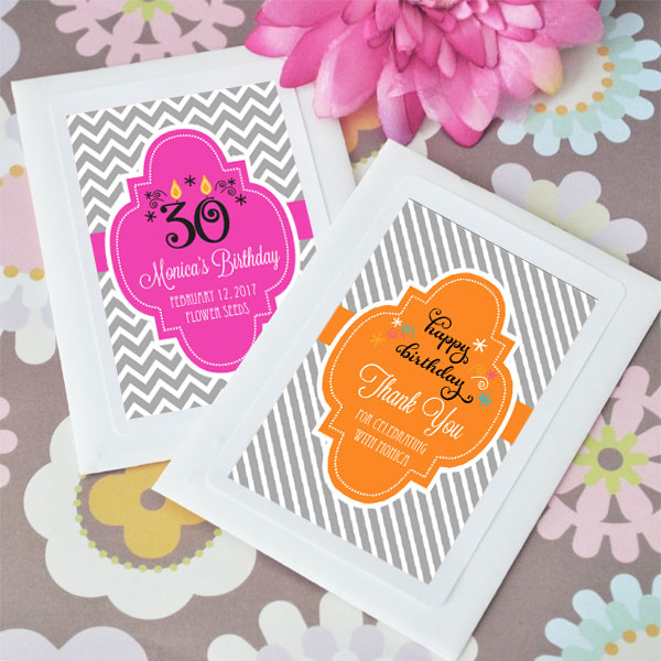 Personalized Birthday Seed Packets  cheap favors
