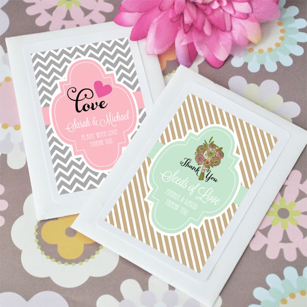 Personalized Theme Flower Seed Favors cheap favors