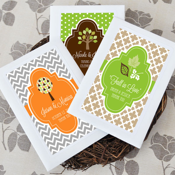 Personalized Fall Wildflower Seed Favors wedding favors