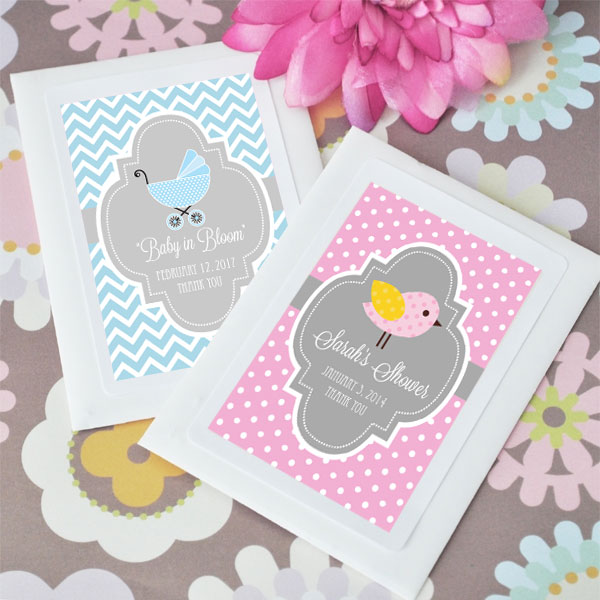 Personalized Baby in Bloom Shower Seed Packets cheap favors
