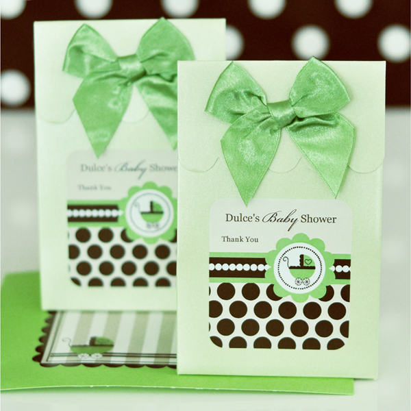 Sweet Shoppe Candy Boxes - Green Baby wedding favors