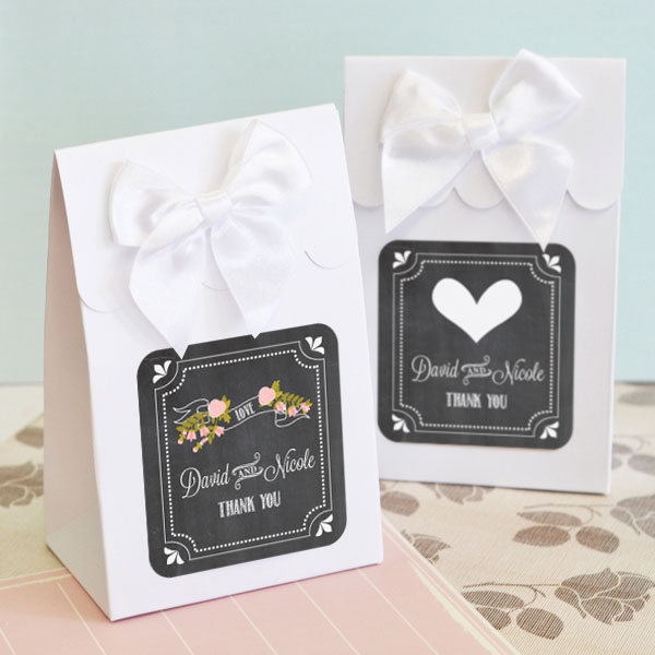 Sweet Shoppe Candy Boxes - Chalkboard Wedding (set of 12) cheap favors