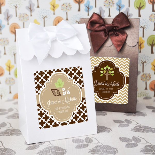 Sweet Shoppe Candy Boxes -  Fall (set of 12) wedding favors