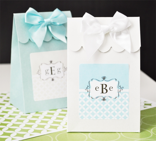 Sweet Shoppe Candy Boxes - Mod Monogram wedding favors