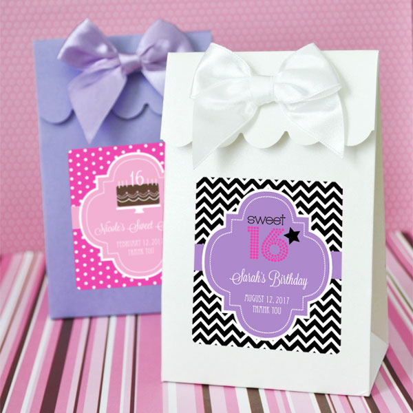 Sweet Shoppe Candy Boxes - Sweet 16 or 15 (set of 12) cheap favors