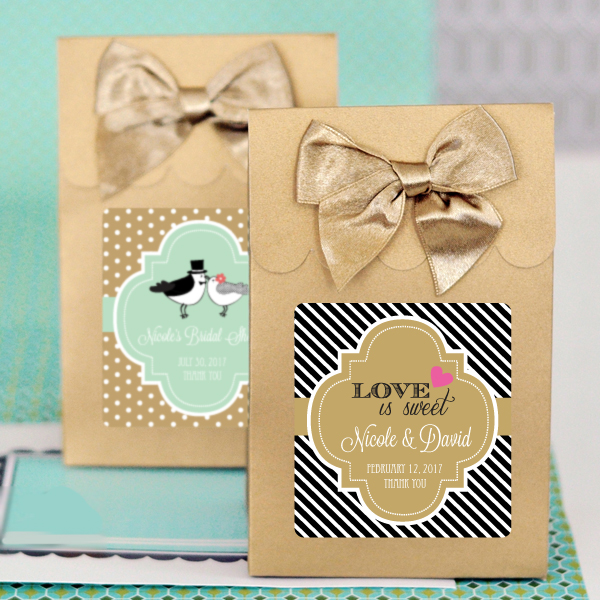 Sweet Shoppe Candy Boxes - Theme (set of 12) wedding favors