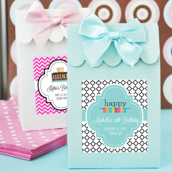 Sweet Shoppe Candy Boxes - Birthday wedding favors