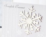 Silver Snowflake Ornament cheap favors