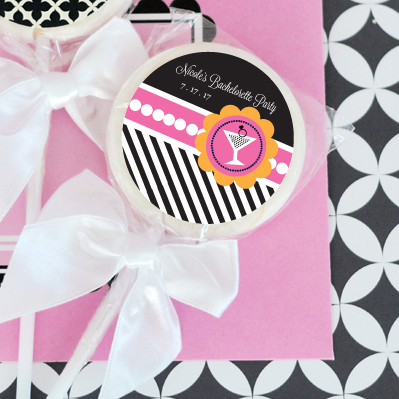 Bachelorette Party Personalized Lollipop Favors wedding favors