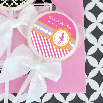 Going to Pop - Pink Personalized Lollipop Favors wedding favors