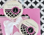 Personalized Lollipop Favors - Parisian Party  cheap favors