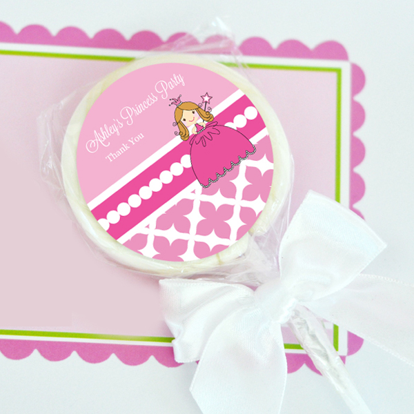 Princess Party Personalized Lollipop Favors  wedding favors