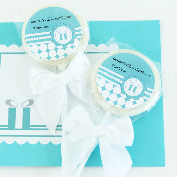 Personalized Lollipop Favors - Something Blue  wedding favors