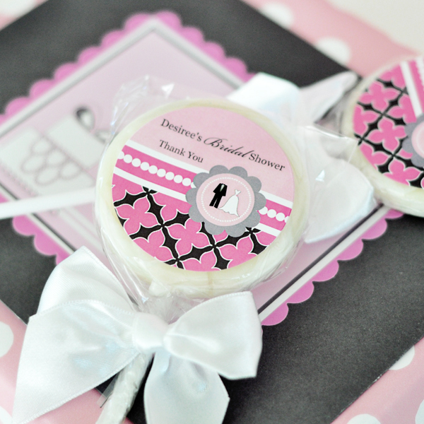 Personalized Lollipop Favors - Wedding Shower  wedding favors