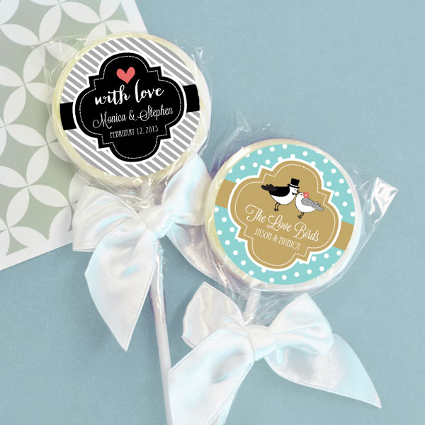 Personalized Theme Lollipop Favors wedding favors