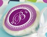"""Something Sweet"" Monogram Personalized Lollipop Favors cheap favors"