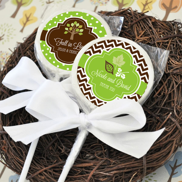 Personalized Fall Lollipop Favors wedding favors