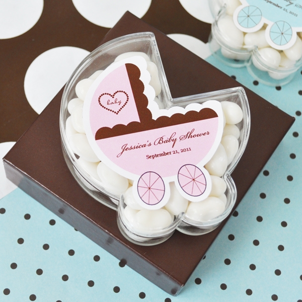 Baby Carriage Acrylic Boxes wedding favors