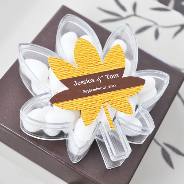 Leaf Acrylic Boxes wedding favors