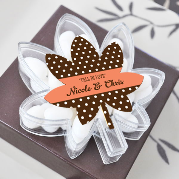 Leaf Acrylic Boxes cheap favors