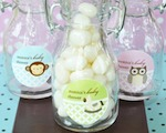 Baby Animal Personalized Mini Glass Bottles  cheap favors