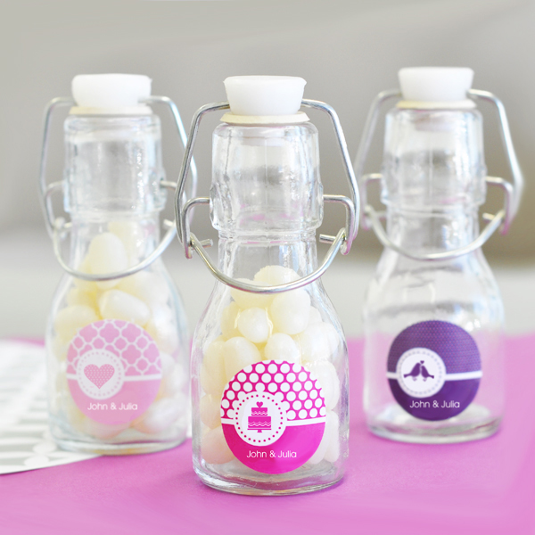 MOD Pattern Theme Mini Glass Bottles wedding favors