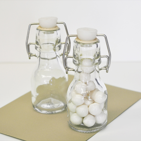 DIY Blank Mini Glass Bottles cheap favors