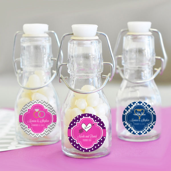 Theme Personalized Mini Glass Bottles  cheap favors