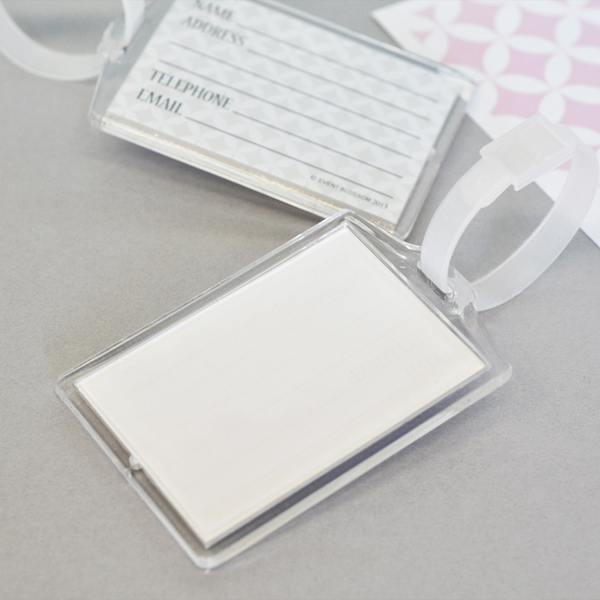 DIY Blank Acrylic Luggage Tags cheap favors