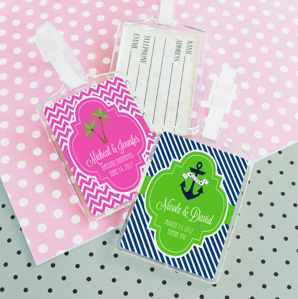 Personalized Theme Acrylic Luggage Tags cheap favors