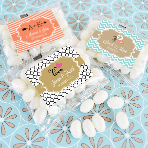 Personalized Theme Jelly Bean Packs cheap favors