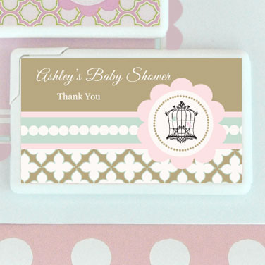 Birdcage Party Personalized Mini Mint Favors  wedding favors