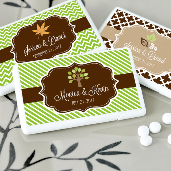 Personalized Fall Mini Mint Favors wedding favors