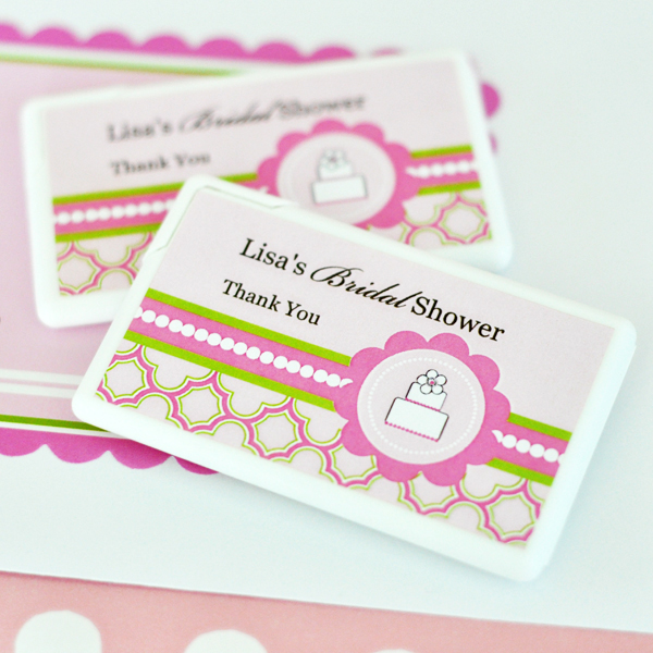Personalized Mini Mint Favors - Pink Cake  wedding favors