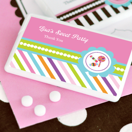 Sweet Shoppe Party Personalized Mini Mint Favors  wedding favors