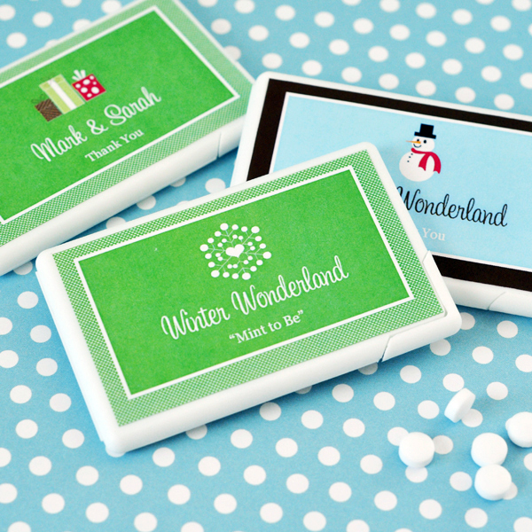 Personalized Winter Mini Mint Favors wedding favors