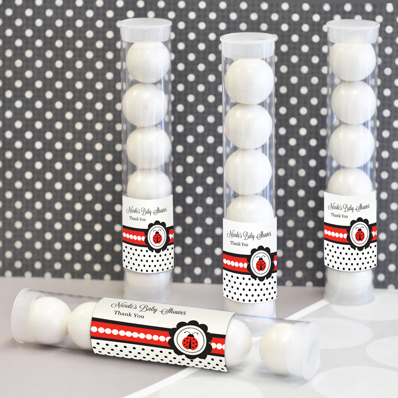 Ladybug Personalized Candy Tubes  wedding favors