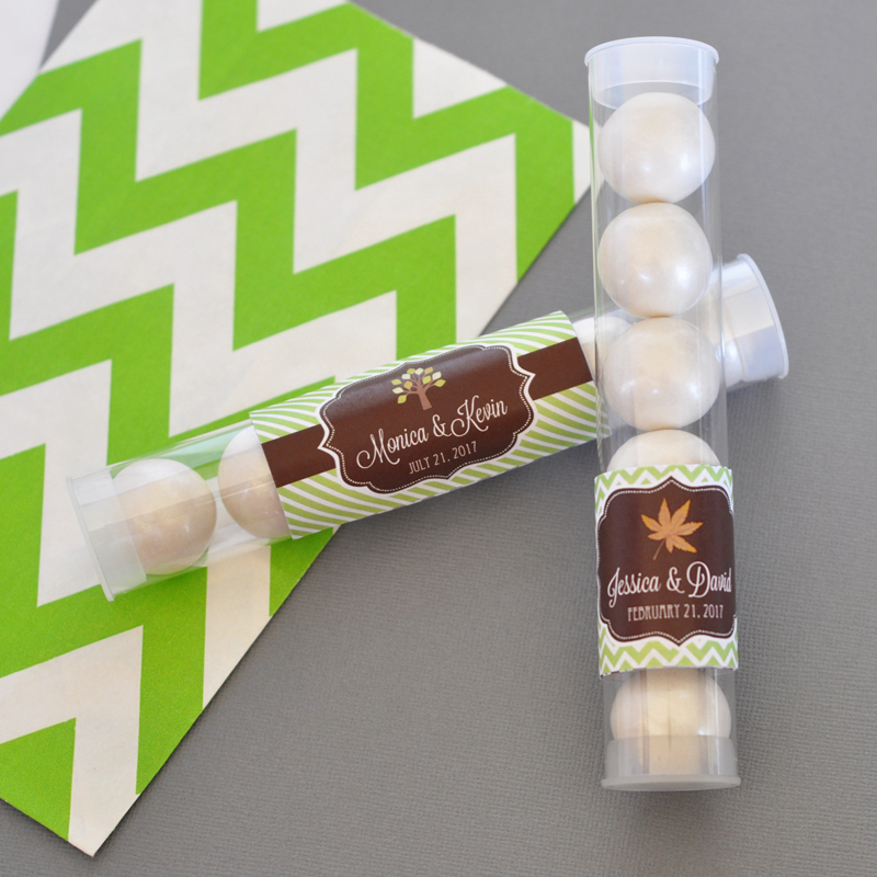 Personalized Fall Candy Tubes wedding favors