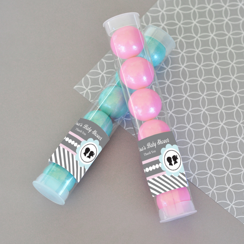 Gender Reveal Party Personalized Candy Tubes  wedding favors