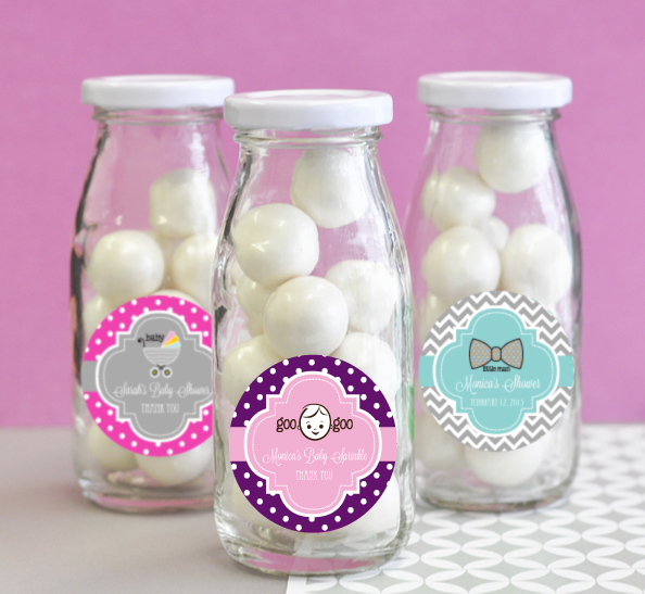 Personalized Baby Shower Milk Bottles cheap favors