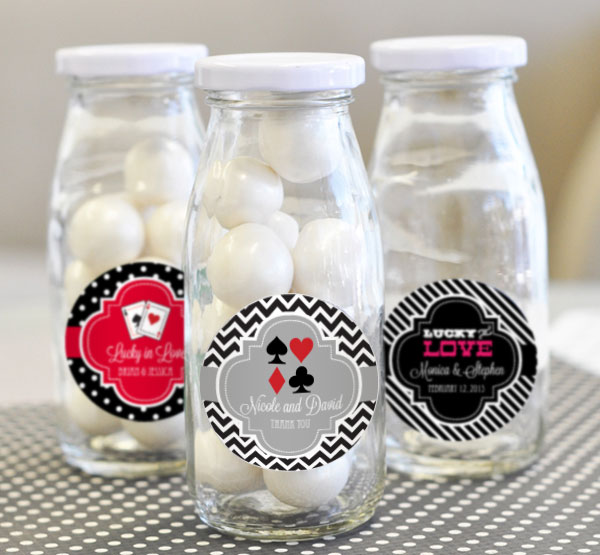 Personalized Vegas Milk Bottles wedding favors