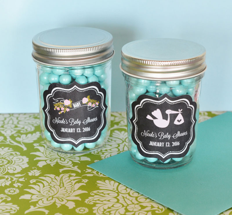 Glass Baby Shower Favors
