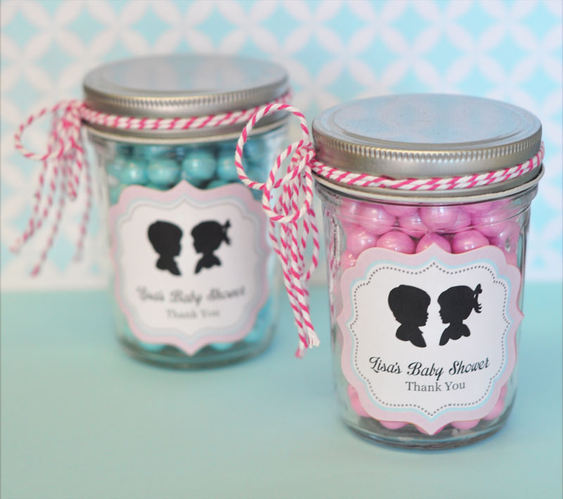 Gender Reveal Party Personalized Mini Mason Jars