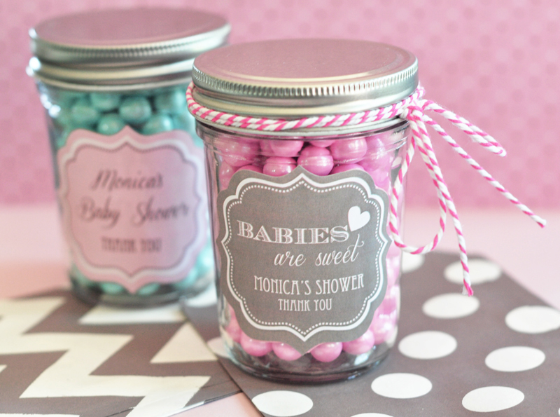 Personalized Baby Mini Mason Jars cheap favors