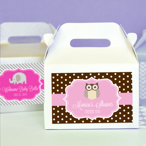 Personalized Baby Animal Mini Gable Boxes (set of 12)  cheap favors